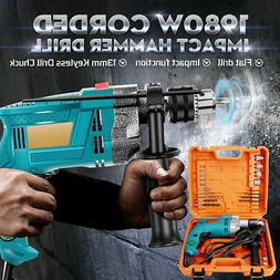 1/2'' 1980W Hammer Impact Variable Electric Corded Drill Chu