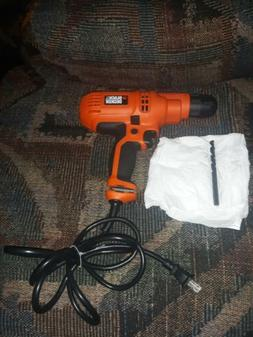 BLACK & DECKER DR260VA 5.2 Amp 3/8-Inch Corded Drill with 2