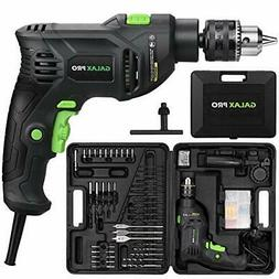 GALAX PRO 5Amp 1/2-inch Corded Impact Drill with 105pcs Acce