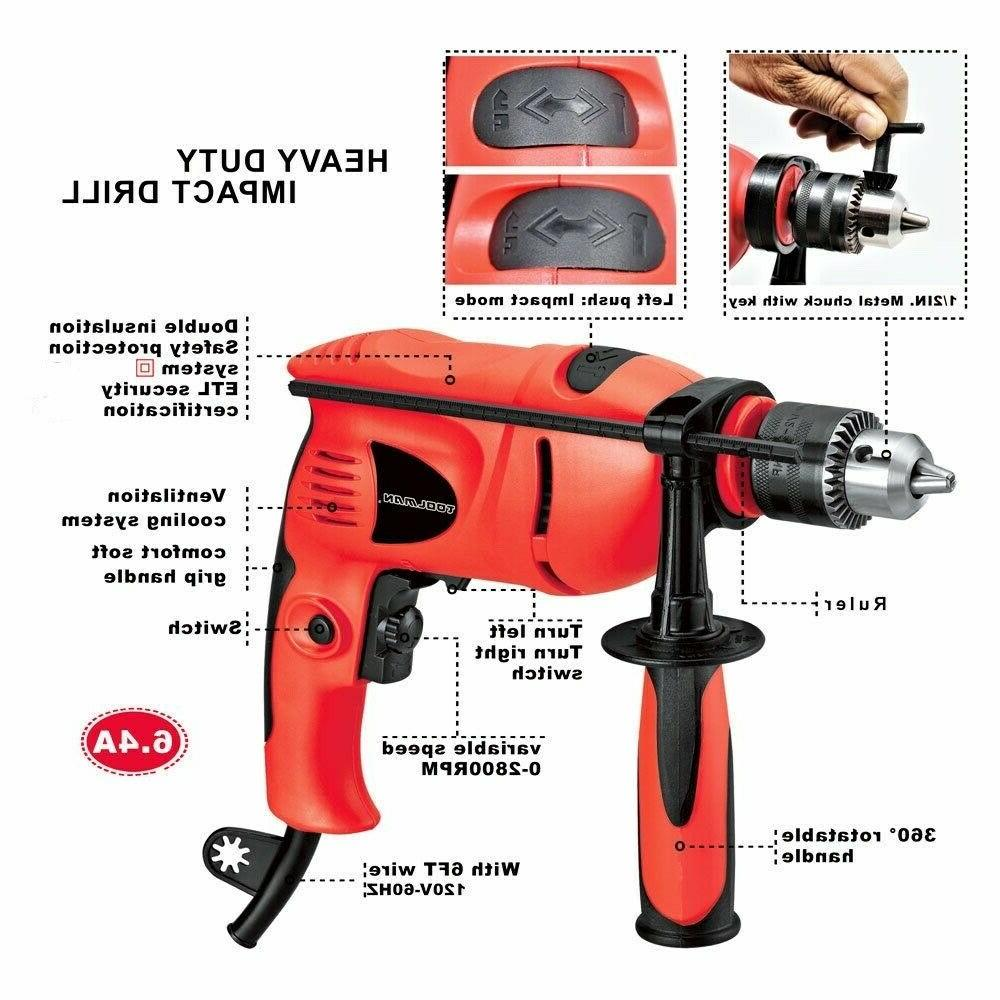 1 2 6 0amp electric impact drill