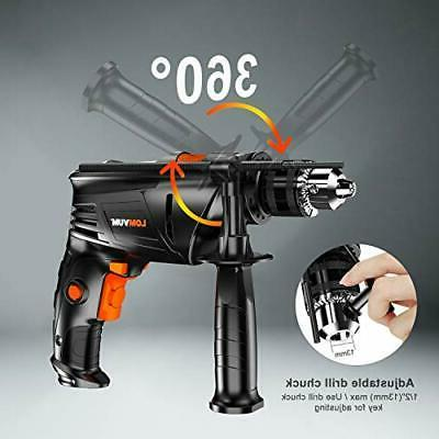 Hammer In. Amp Variable Speed Impact Drill