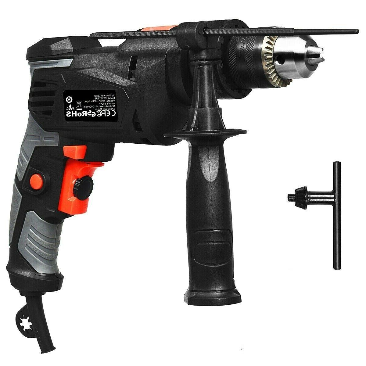 Hammer Drill Corded 1/2 Inch Electric Drill 3000 RPM Variabl