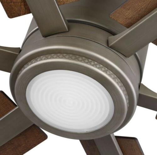 Integrated LED Antique Nickel Dual Mount Fan