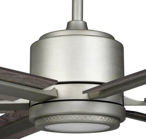 Palermo Grove in. Integrated LED Indoor Nickel Dual Mount Ceiling Fan