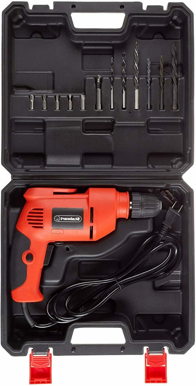 Stalwart Electric Power Drill with 6-Foot Cord Variable Speed