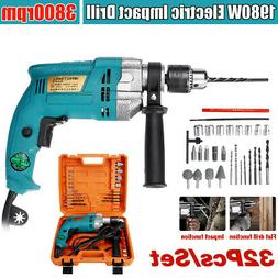"""1/2"""" 1980W Hammer Impact Variable Electric Corded Drill Chuc"""