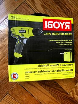 RYOBI Variable Speed Corded Drill with Toolbag
